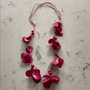 Jewelry - Vibrant Pink Adjustable Statement Necklace.